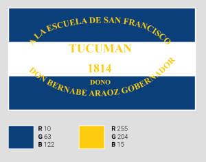Azul un ala, el verdadero color de la bandera argentina